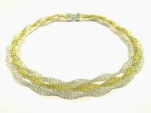 """Twist mix"" Silber 18K Gold"