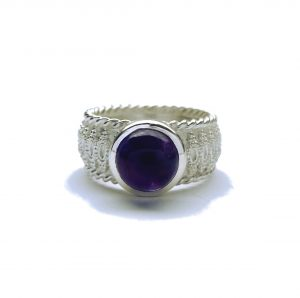 "Ring ""Spitze"" Silber/Amethyst"