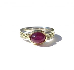"""Ring """"Lana"""" Silber, 14K Gold, Rubinubin"""